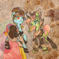 Steampunk Ponies by Otterlore