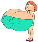 Family Guy Lois Giant sized boobs by CH1996ART