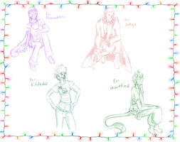 Christmas Sketches Page 2 by Keitana