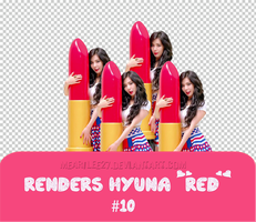 [Request] Renders Hyuna Red #10 by mearilee27