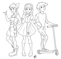 LINE - Human Cutie Mark Crusaders by Mono-Phos