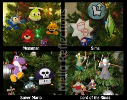 Geeky Ornaments by MelloReflections