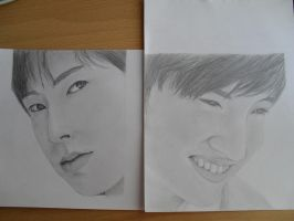 Yunho + Changmin portraits by Sie-tje