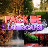 Pack de 5 Landscapes by welovefamous