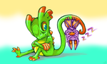 Yooka-Laylee scribble by Pseudogiant
