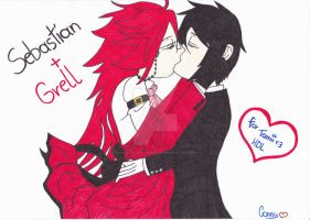Grell and Sebastian. by small-yeast-dumpling