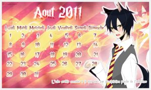 Calendrier Aout 2011 by Toshi-Shu