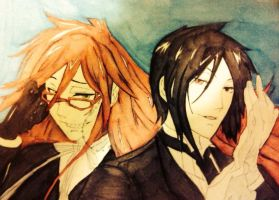 grell and Sebastian by The-Banshee-Queen