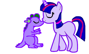 Gift for Spike Twilight and Spike kissing by FireFly1800