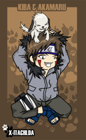 Chibi Kiba And Akamaru by x-itachi