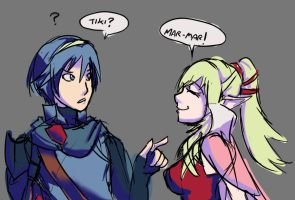 marth n tiki by Shun-one