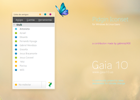 Gaia 10 Pidgin Iconset by gabriela2400