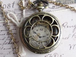 Steampunk pocket watch necklace by Hiddendemon-666