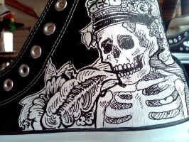 Day of the Dead Converse by Kangas