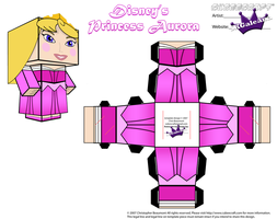 Disney Princess Aurora Cubeecraft Pink Dress PT 2 by SKGaleana