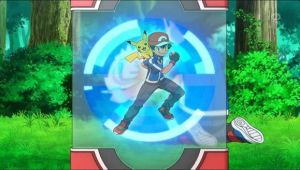 Serena used Pokedex to scan Ash/Satoshi by Empire-of-PokeJapan