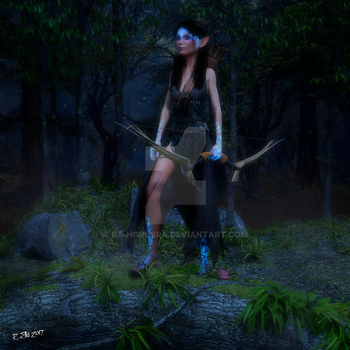 Elven Huntress by Ra-HorusRa