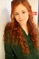 Curly red hair by annabellthehippie