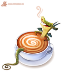 Daily Paint #1115. Latte Dragon by Cryptid-Creations