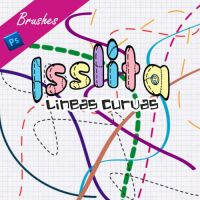 Curved Lined Brushes by IssLiTa