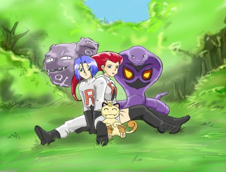 Hollidays for the team rocket by corbeauprophet