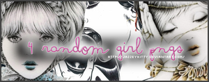 4 Random Girls - PNG Pack by silklungs