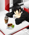 Shin with Creme Brulee and Iced Mocha Latte by yuuri-matsumoto