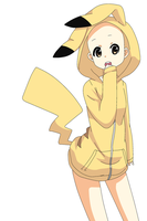 Girl in Pikachu-Hoodie Base by Hope-Bases-x3