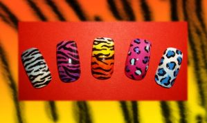 Animal Print Nails by Shadowoftheredrose