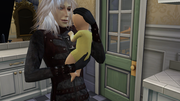 Jareth and baby sims 4 by frodosgirl