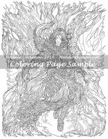 Art of Meadowhaven Coloring Page: First Songs by Saimain