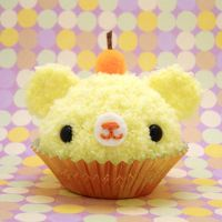 Yellow Fruit Cupcake Bear by amigurumikingdom
