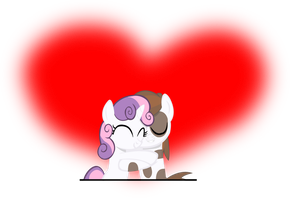 Request 3: Sweetie Belle and Pipsqueak by RiskyTheArt