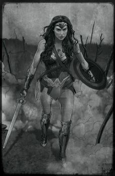 WONDER WOMAN 1914 Old Picture by hamletroman