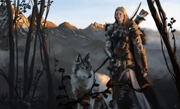 Adowyn the Hunter by tithendar