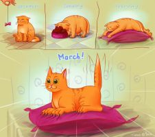March Cat by Tiesei