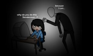 Slender Man...why? by FeatherLetters