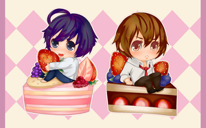 Death Note: Cake Chibi Set by Aeirus