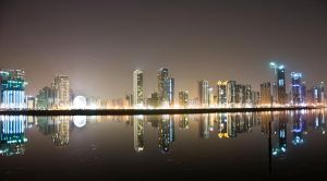 Reflections of Sharjah by kazimkirmani