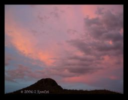 Hot Pink Purple Sunset Clouds by RooCat