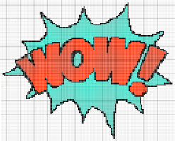 WOW comic sound effect pattern by RawrrThePeowPeow