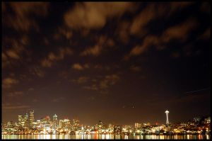 .seattle skyline 01. by elementalunacy