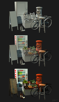 Low Poly Props for Tokyo City Scene by Sirtuuna
