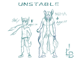 Stacy And Noma (UNSTABLE CHARACTERS) by JLindseyB
