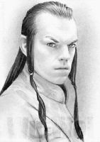 Hugo Weaving miniature by whu-wei