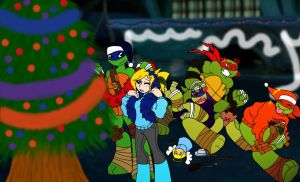 TMNT:2013 Secret Santa for mikiangel1000 by kiananuva12