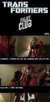Causeway as the Narrator and Elita as Tyler Durden by X4vrztesp