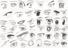45 Manga eyes by ciccio91gow