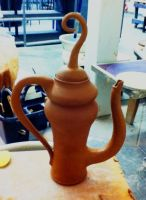 teapot in progress by Haeddre