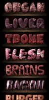 Flesh Meat Photoshop Styles by xstortionist